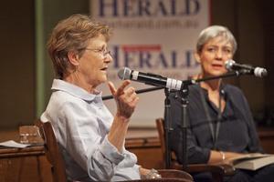 Helen Garner with Caroline Baum